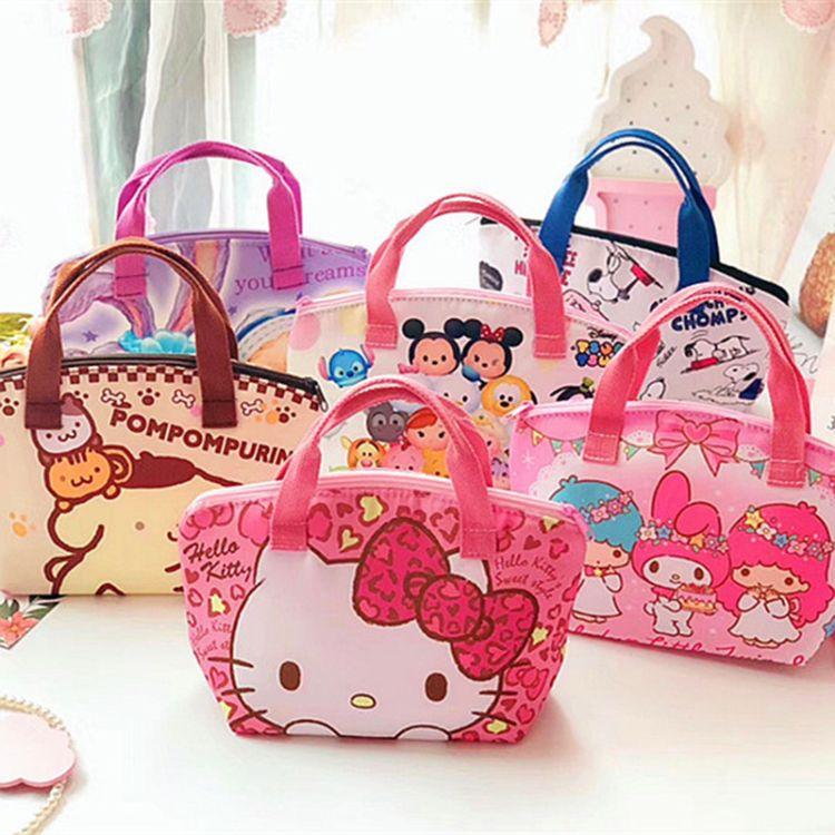Hello Kitty双子星My Melody卡通保温饭盒袋午餐便当餐盒包妈咪袋