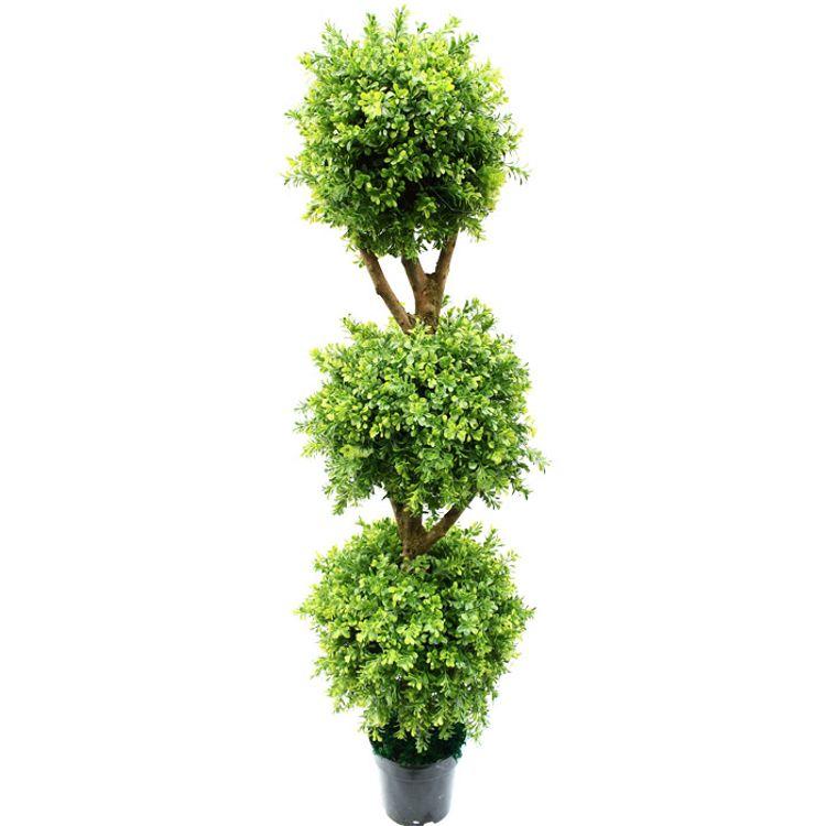 重庆户外仿真米兰草火炬植物盆景批发人造假圆形造型树盆栽定做