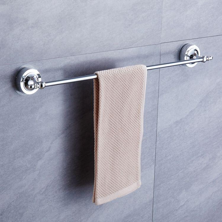 豪霸浴室不锈钢毛巾架 免打孔吸壁式毛巾挂杆 强力无痕免钉浴巾架
