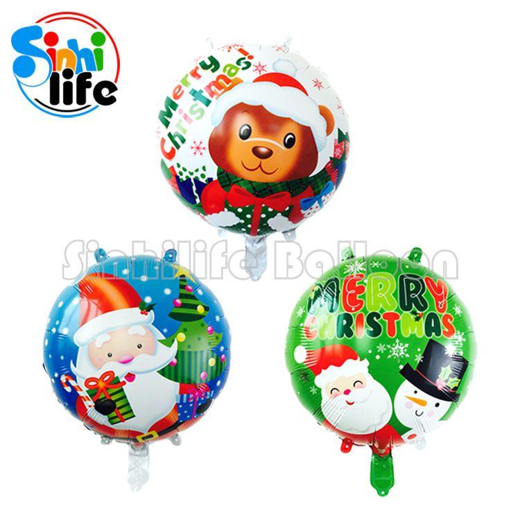 圣诞节节日装饰铝膜气球 圣诞老人圣诞树 雪人铝箔气球套餐批发