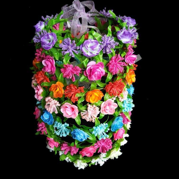 新款热销花环 泡沫花环 旅游景区头饰 泡沫满天星和布料玫瑰组成