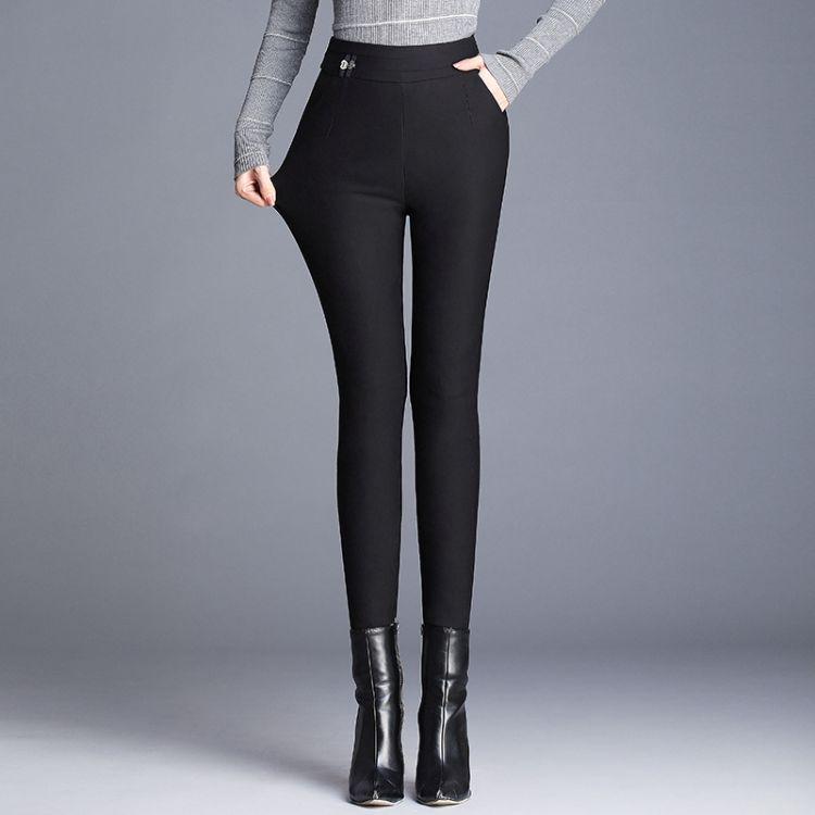 2018新款时尚黑色女款羽绒裤冬款加厚修身保暖女裤一件代发批发