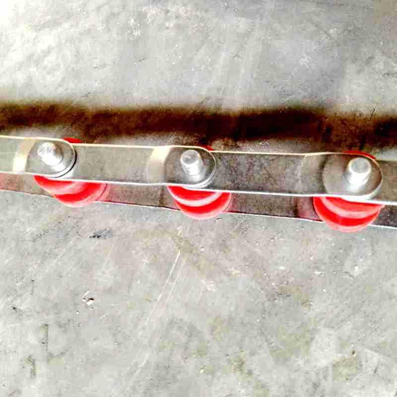 链条片塑料滚子链条 双节距滚子传送链条 寿司旋转滚子链