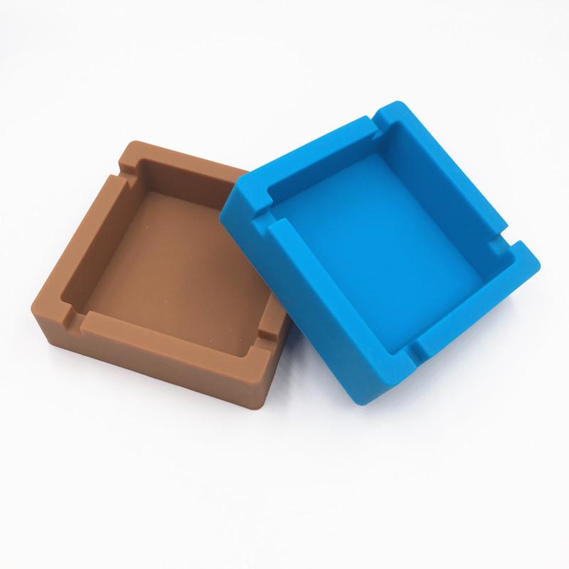 厂家批发制创意方形硅胶烟灰缸耐高温硅胶烟灰盒广告促销礼品定制