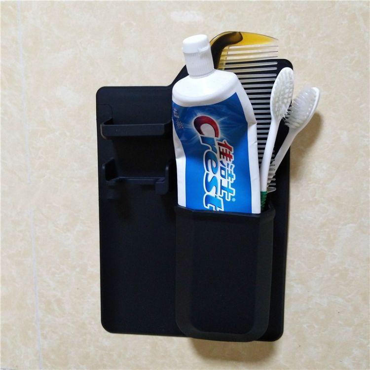 硅胶牙刷架 架收纳牙刷 牙刷置物架卫生间牙刷架吸壁式 厂家直销