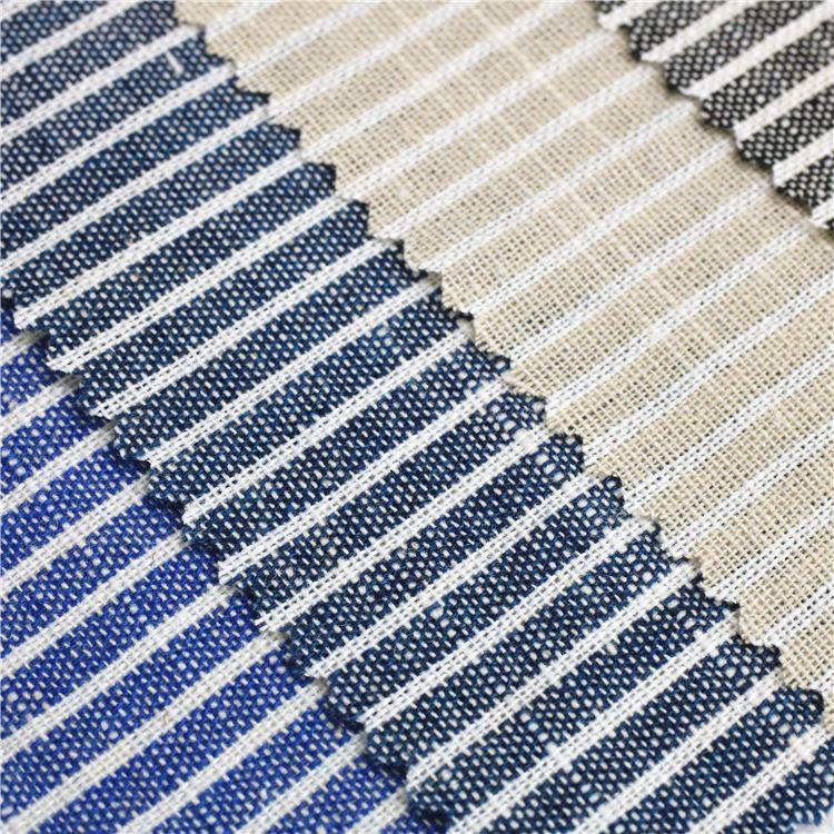 厂家现货供应全棉色织条纹布,服装童装面料
