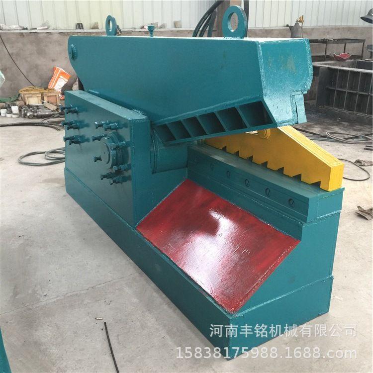 金属铁皮剪切机价格低 丰铭废旧钢筋钢板边角料剪切机 钢材市场液压鳄鱼剪