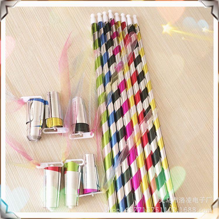 义乌厂家直销伸缩魔术棒道具斑马塑料弹棒魔术玩具金箍棒