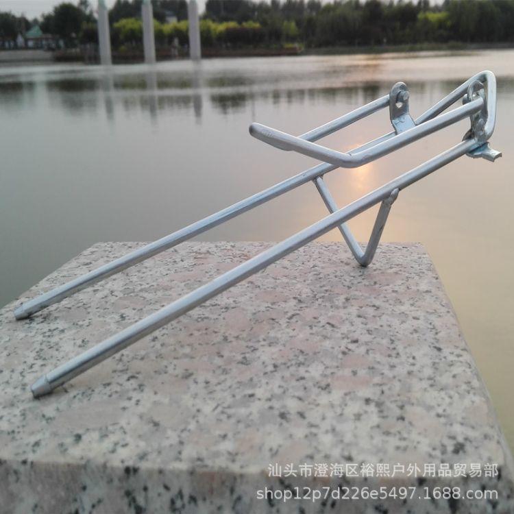 简易两用钓鱼竿支架实心铁制全金属耐用海竿支架地插手竿电焊铁架