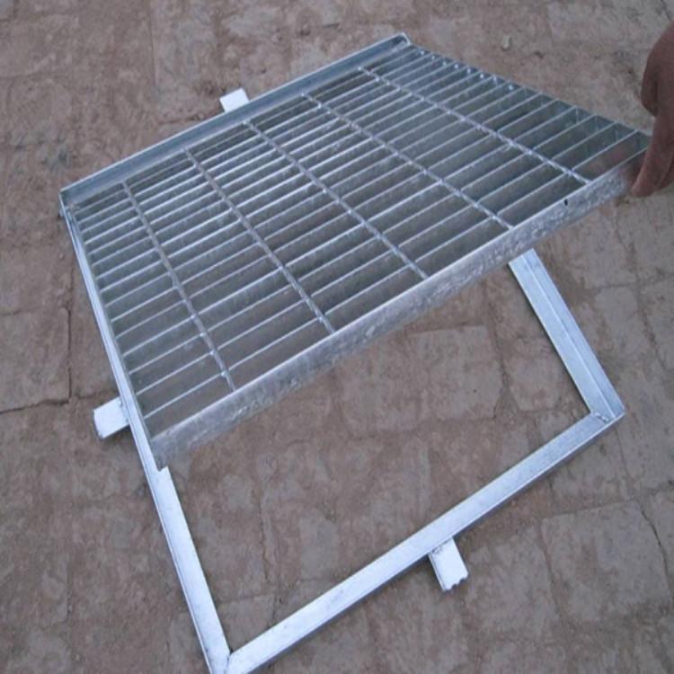 河北沐宸厂家直销电厂热镀锌钢格板格栅盖板金属网格栅板网格板平台踏步板