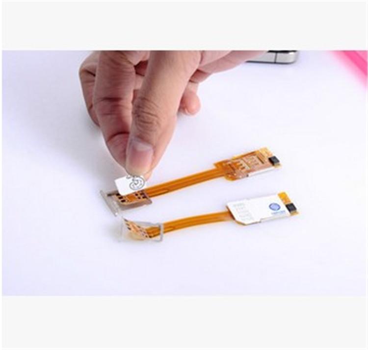 hot适应苹果iphone6\5S\双卡通 sim卡双号适配器 一卡双号