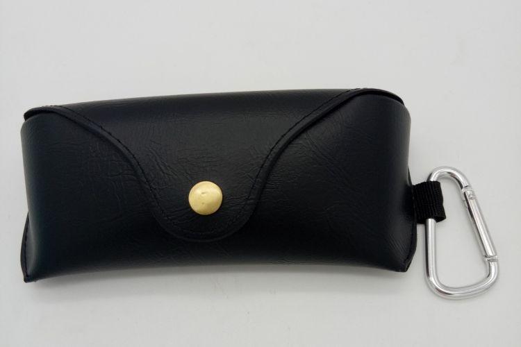 厂家批发定制太阳镜盒,皮质时尚镜墨镜盒,复古品牌按扣软包盒