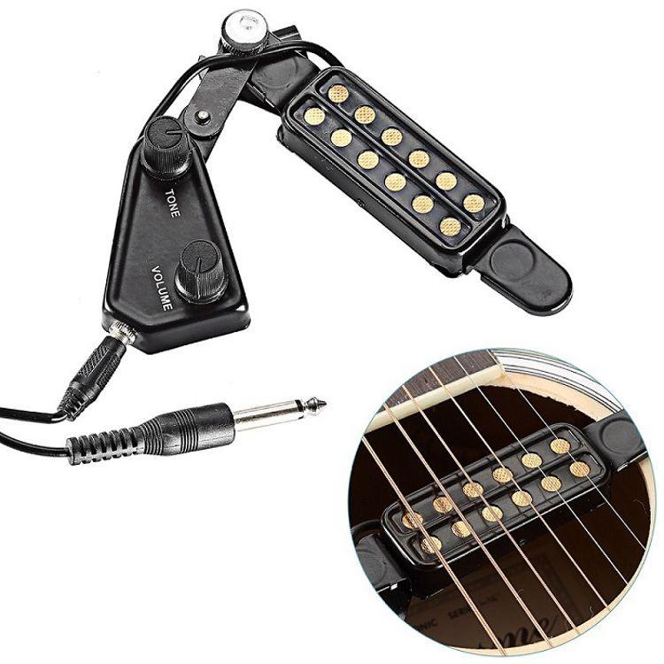 厂家直销亚马逊吉他配件 PICKUPS P-011民谣吉他拾音器拾音器批发