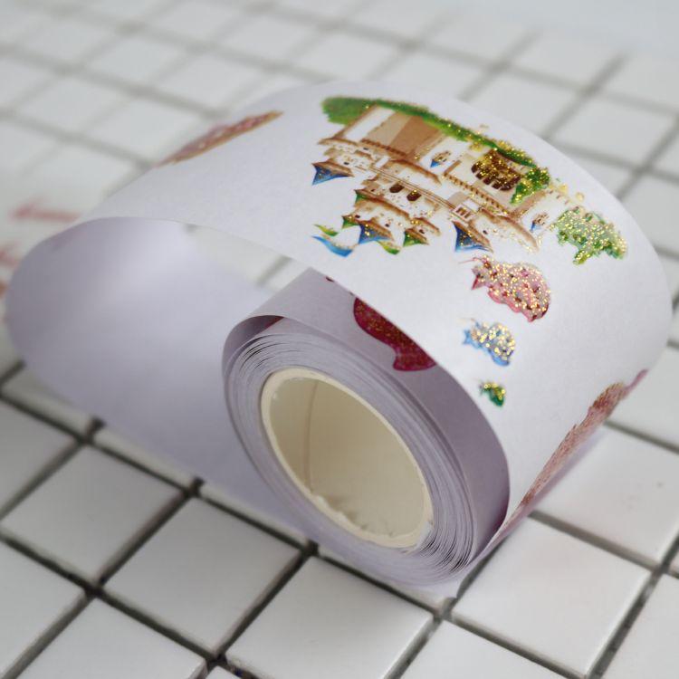跨境货源可手撕卡通圣诞节日DIY装饰文具纸质手账彩色和纸胶带