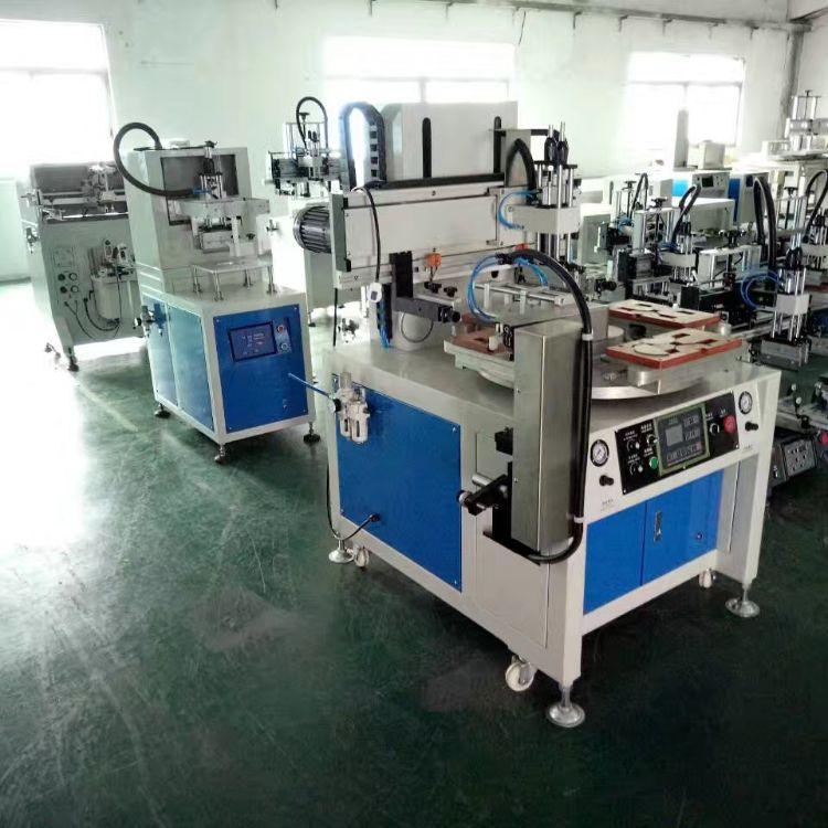 尺子丝印机销售 骏晖印刷机械 立式转盘丝网印刷机 操作方式全自动
