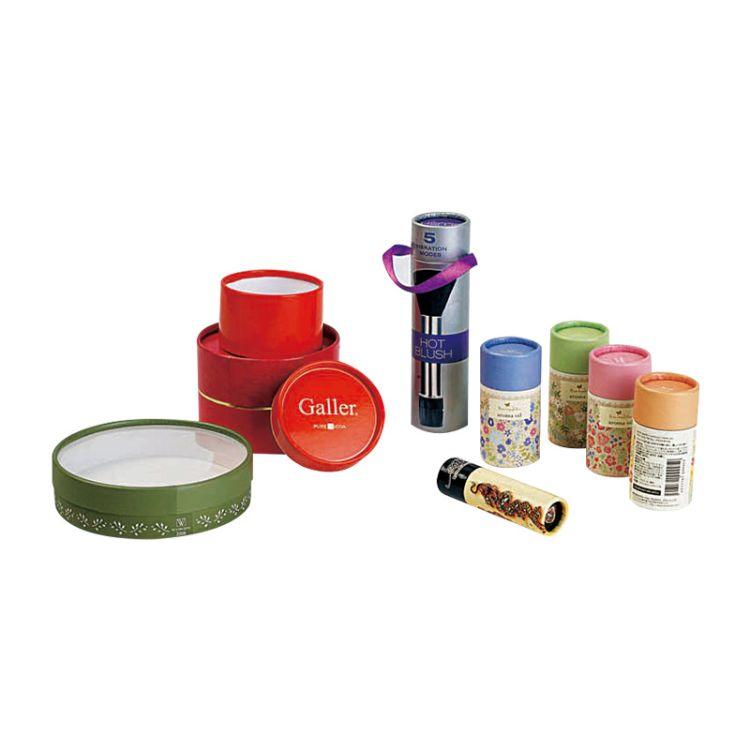 彩印烫金化妆品精油纸筒 唇膏口红小纸管 食品书画挂历印刷纸罐