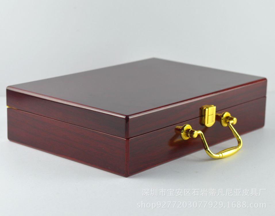 现货特价 高档红木礼品盒 皮带双扣头 手提木盒亮光喷漆厂家直销