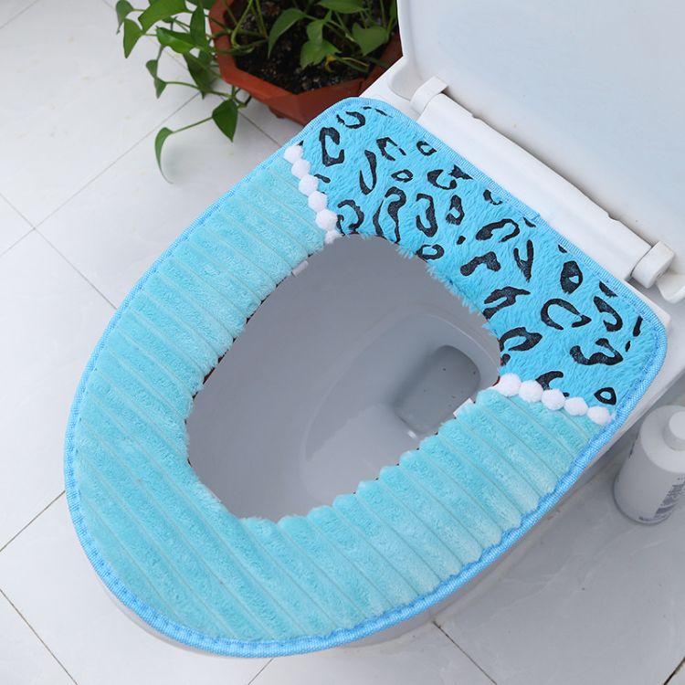 马桶垫坐垫马桶套粘扣魔术贴通用坐便垫水洗坐便套厂家批发