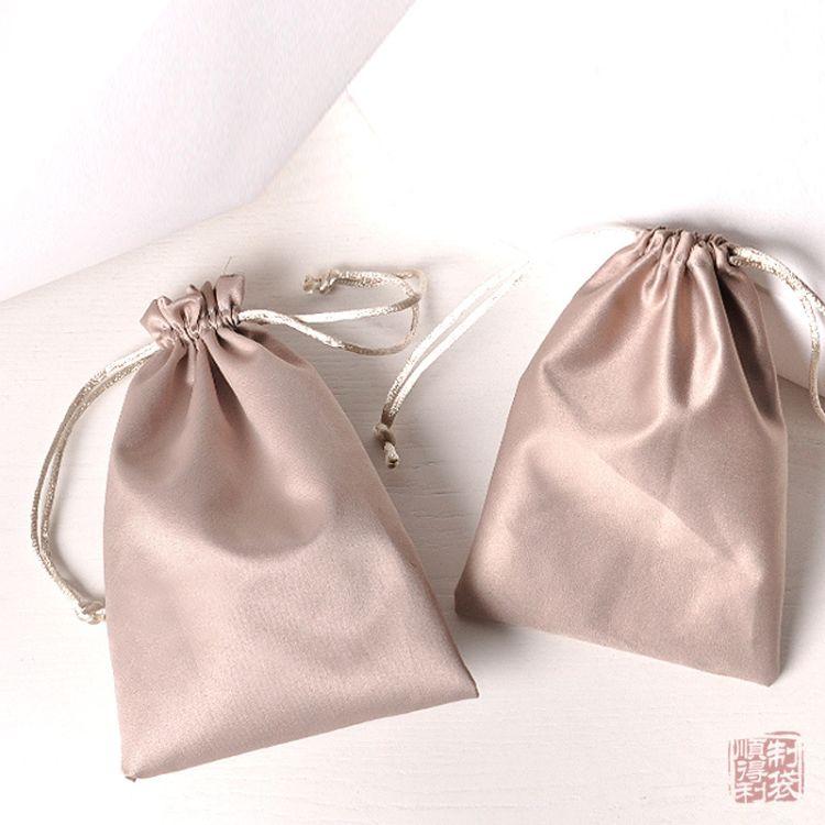 厂家定做成人用品G点振动棒仿真丝色丁布收纳袋包装袋丝绸束口袋