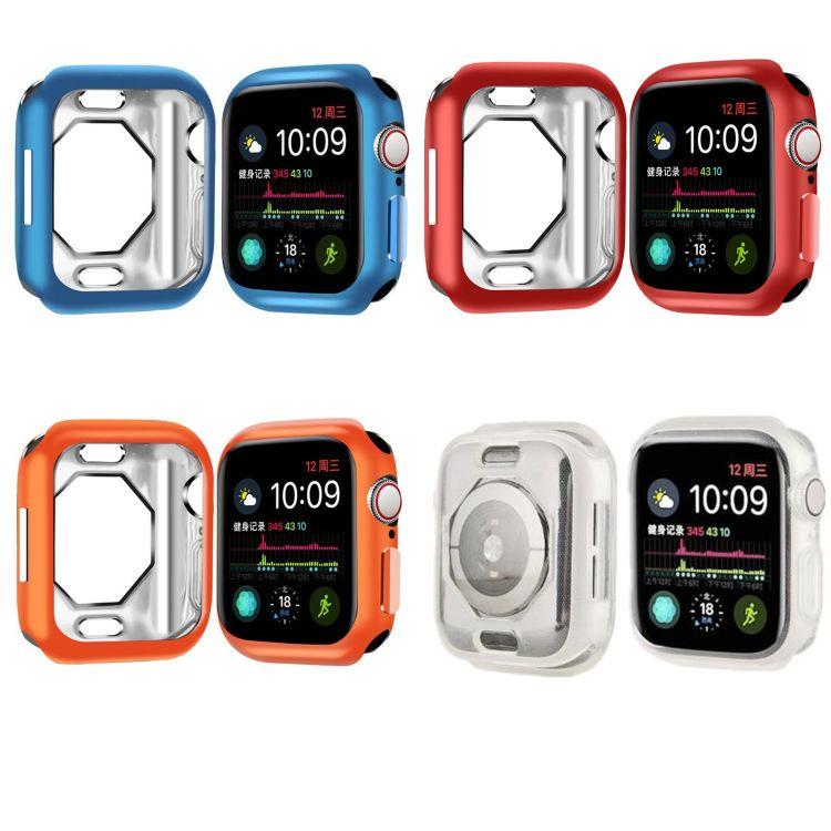 现货 适用于苹果Apple Watch4代 保护套 新款八边形镂空tpu电镀壳