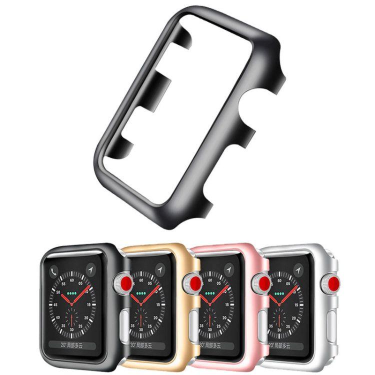 适用Apple watch2/3保护套苹果手表电镀PC简约保护套外壳38/42mm