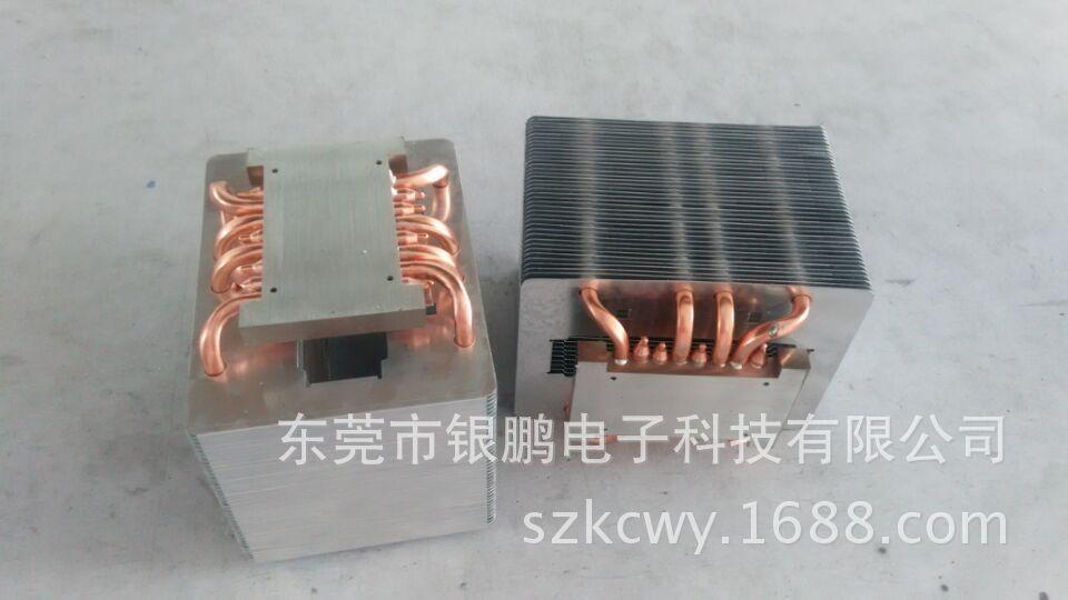 大功率LED灯具热管散热器