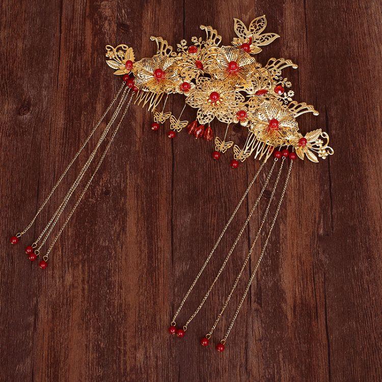 韓版新娘發冠飾品 微鑲鉆頭飾品 精美新款古裝新娘頭冠 批發
