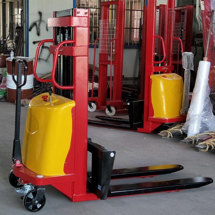 厂家生产电动堆高车半自动液压升高车 步行式充电式高位理货叉车