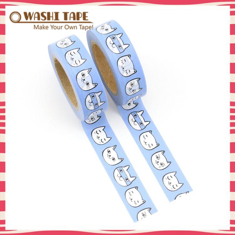 日本猫咪手帐日记装饰手账和纸胶带 和纸胶带定制工厂手撕无残留