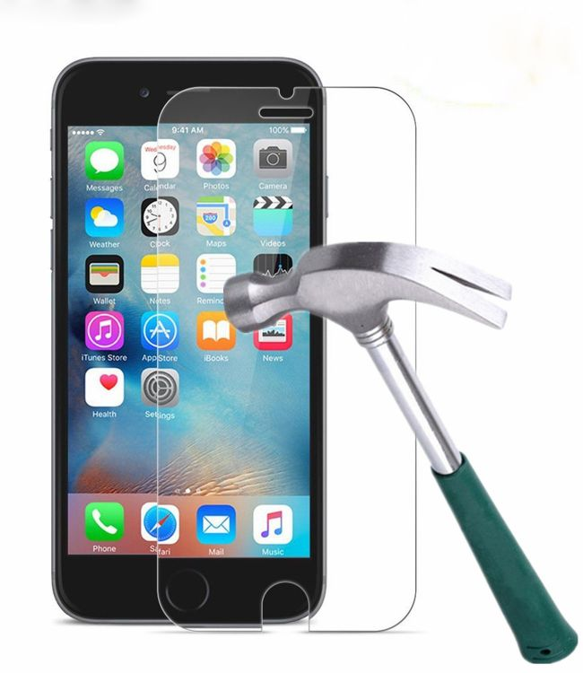 适用苹果2.5D钢化膜iPhone X 8 8P 7 7P 6 6S 5S全屏钢化保护膜