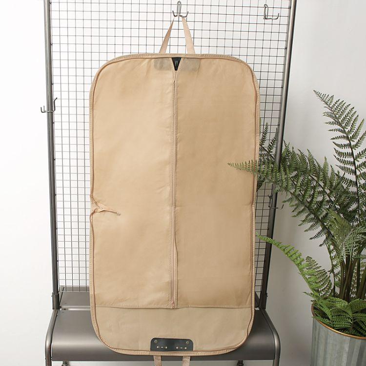 厂家定制无纺布手提西装套 衣物防尘罩 收纳挂衣礼服袋