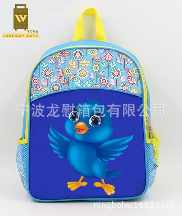 【专业工厂】定做促销环保儿童幼儿园卡通立体3D减负书包背包