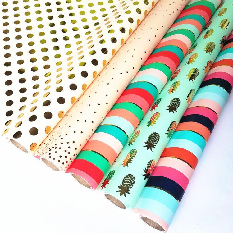 厂家直销 烫金包装纸 图书包装纸 卷筒礼品包装纸 出口定做