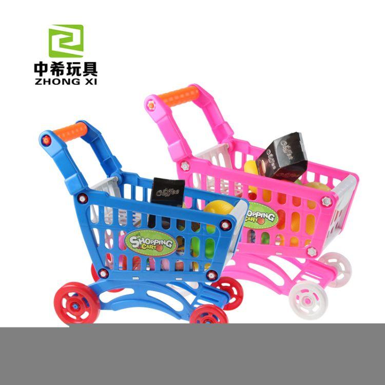 儿童仿真超市购物车宝宝过家家玩具手推车蔬菜水果套装速卖通