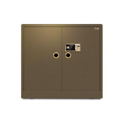 全钢保险柜办公双门高90cm指纹密码大型保险箱宽1米珠宝柜保管箱