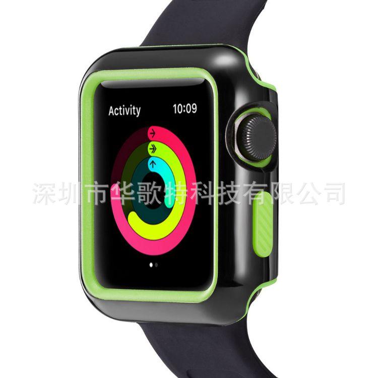 适用于苹果手表表壳iWatch双色二合一手表保护套tpu+pc防摔保护壳