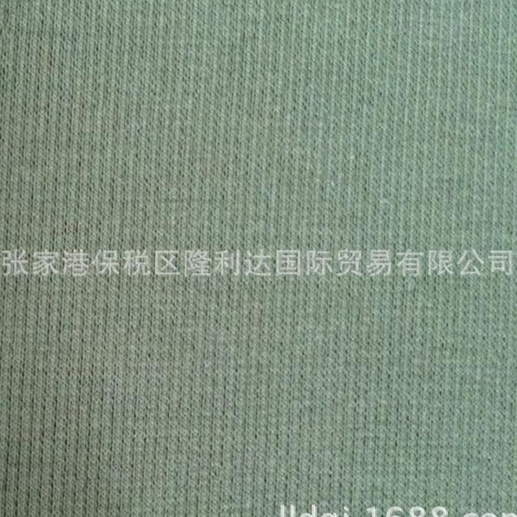 【厂家直销】2*2全棉罗纹面料 针织罗纹布