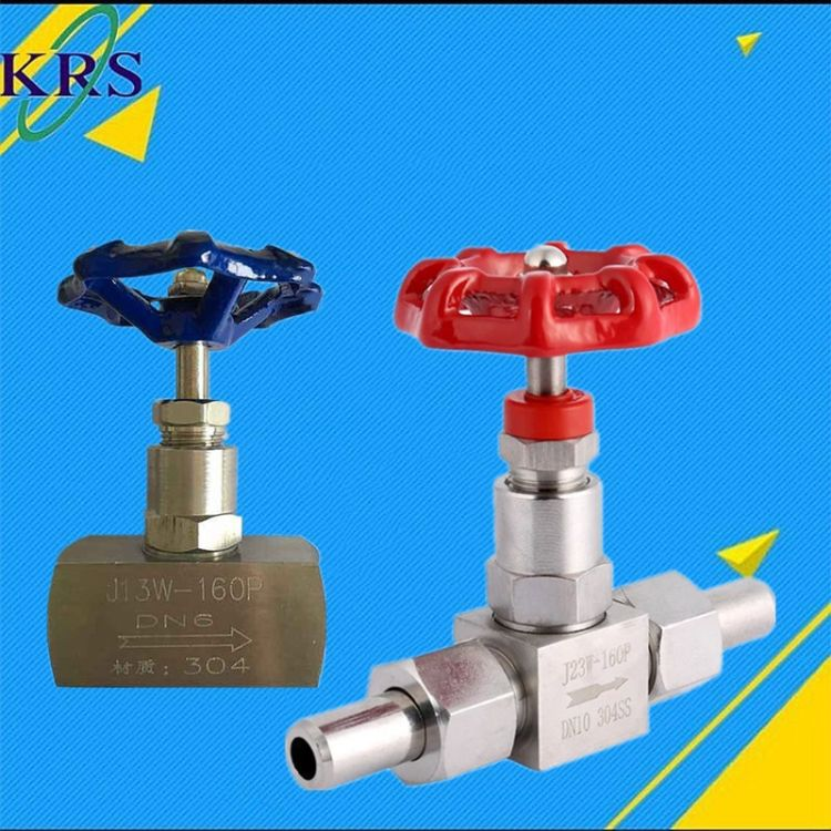 针型阀  J13、23W-16P不锈钢丝扣针型阀 耐高压手动单向针型阀