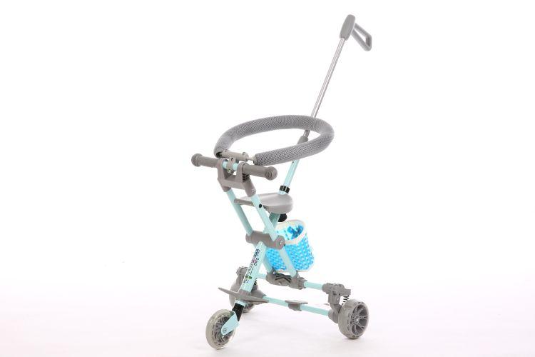 米天乐溜娃神器带刹车减震儿童手推车轻松折叠轻便携带欢迎订购