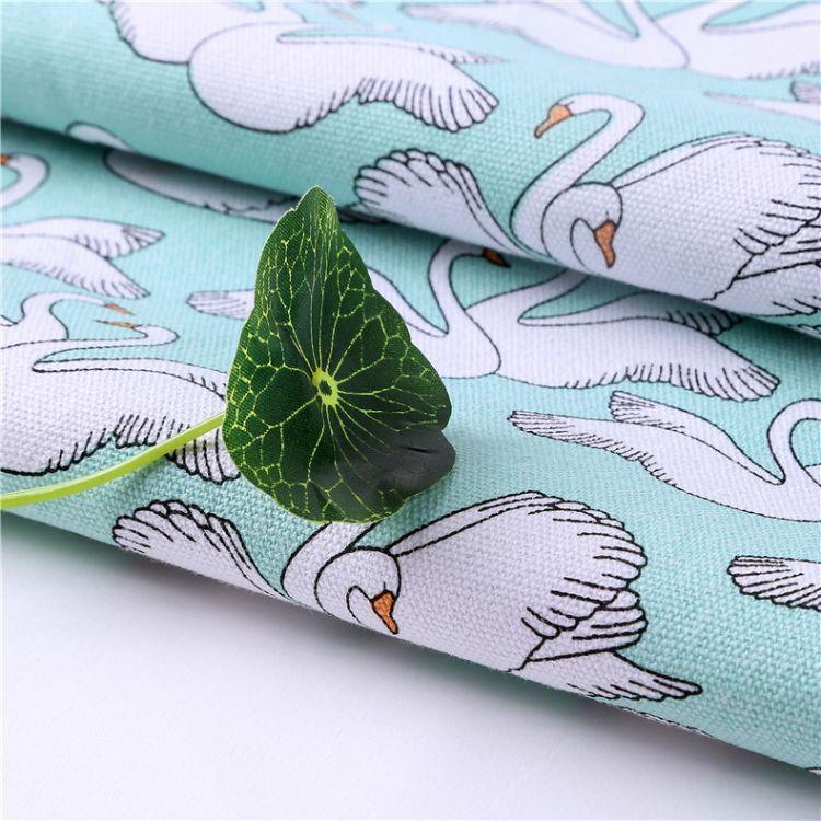 厂家直销12安涤棉印花帆布2*2棉布箱包手袋布料桌布购物袋面料