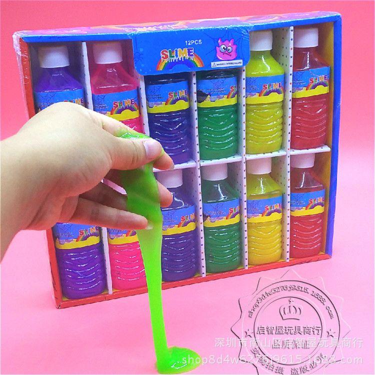儿童玩具 橡皮泥沙皮胶小油桶 六彩鼻涕泥 恶搞整蛊 厂家货源批发