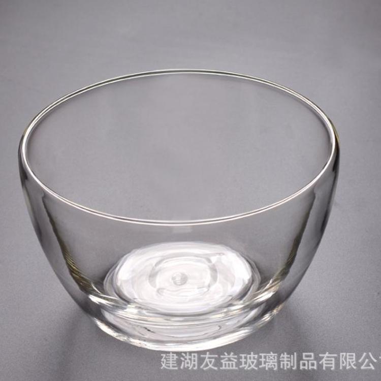 厂家供应透明沙拉碗/创意家用微波玻璃碗耐热泡面碗品质好