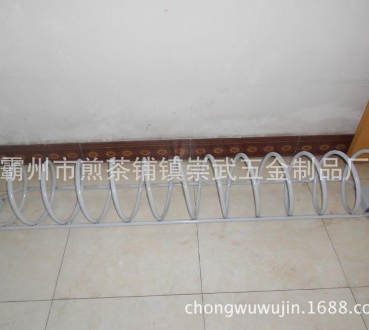 霸州市厂家直销优质自行车停放架 螺旋形 高低款 异型自行车停放