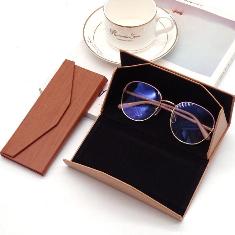 【方飛】時尚墨鏡盒 木質紋太陽眼鏡盒批發