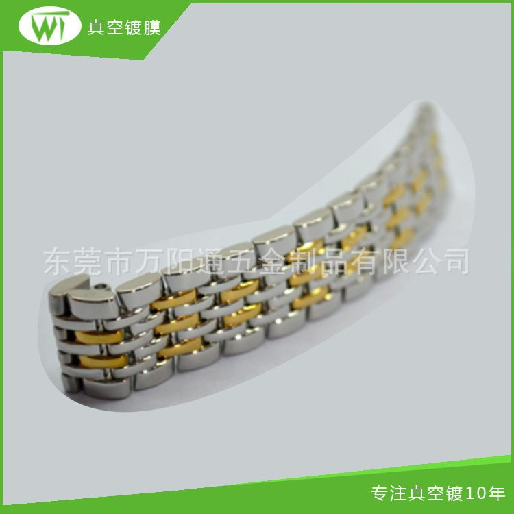 男女通用手表配件表链金属10mm 双按蝴蝶玫瑰金 表链弧形接口20mm