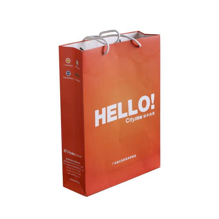 广告礼品袋 印LOGO手挽纸袋