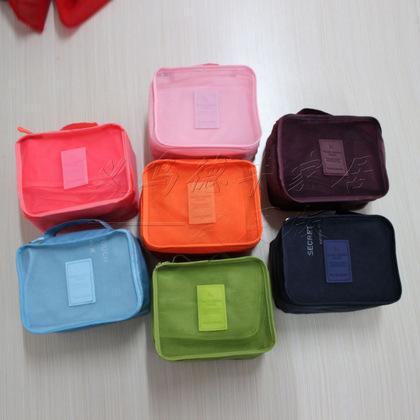 韩日风格酒红色旅行洗漱袋 化妆包 旅行收纳袋 防水保护衣物6件套