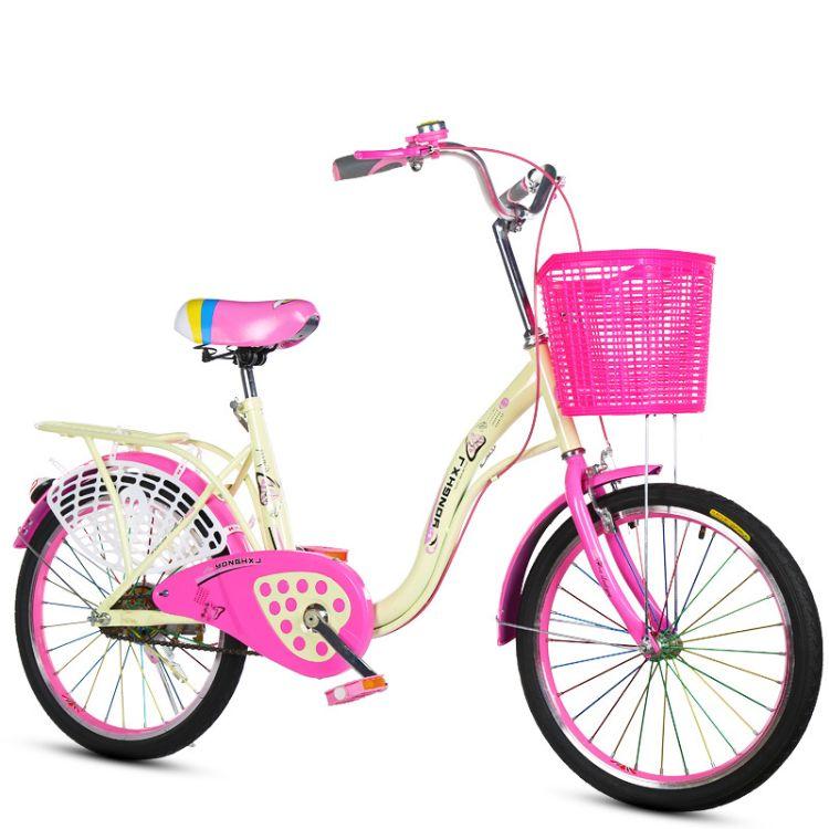 16寸20寸自行学生车梦里水乡淑女单车男女式单车成人自行车城市车