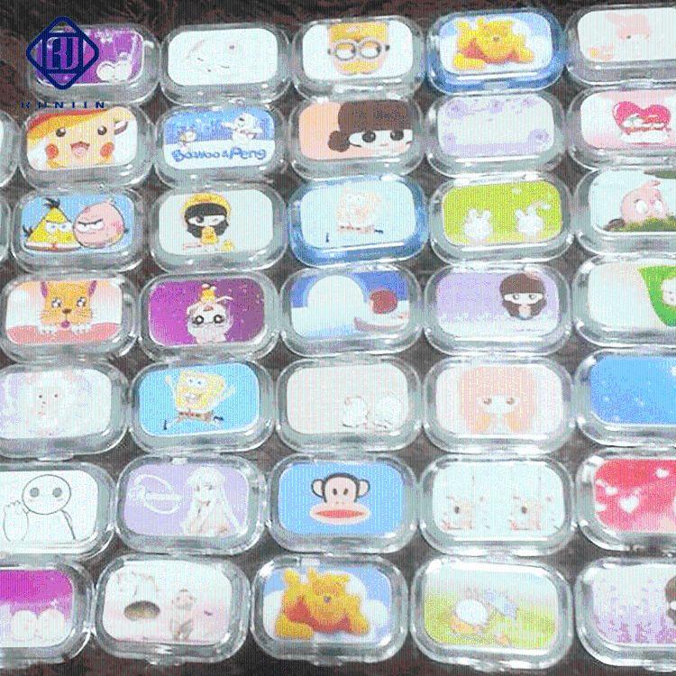 便携隐形眼镜盒美瞳盒 可爱糖果色隐形眼镜伴侣盒    护理盒