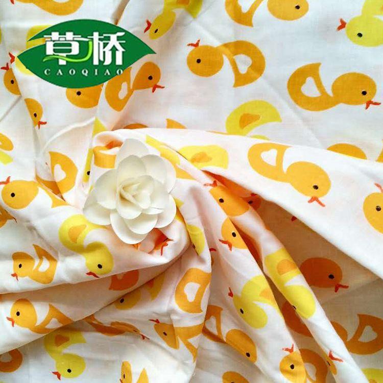 草桥牌棉质双层印花纱布母婴用品纱布面料10884工厂批发